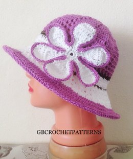 Viola mom and baby summer hat