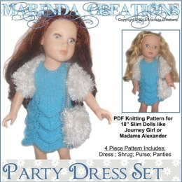 Party Dress Set For 18'' Dolls