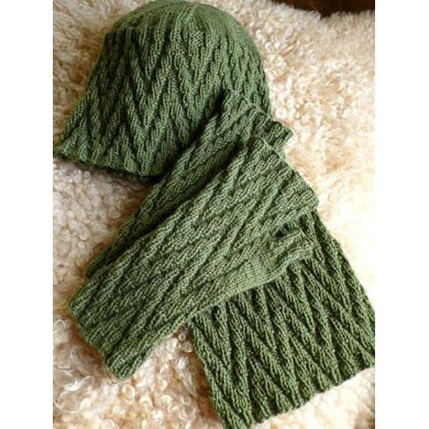 Zig Zag Mitts, Hat, and Scarf