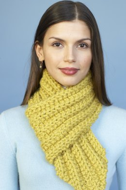 Bulky Rib Mini Scarf in Lion Brand Wool-Ease Thick & Quick - 80984AD
