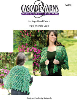 Triple Triangle Cape in Cascade Heritage Paints - FW118