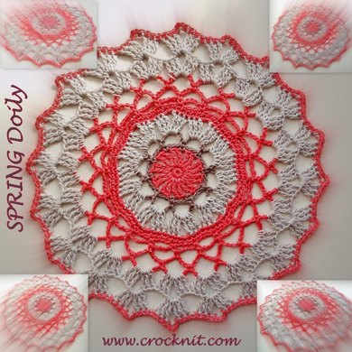 SPRING Doily and Coaster