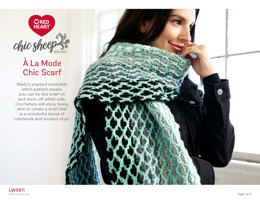 A La Mode Chic Scarf in Red Heart Chic Sheep - LW5911 - Downloadable PDF