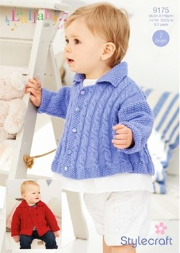 Cable Jackets in Stylecraft Lullaby DK - 9175