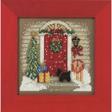 Mill Hill Home for Christmas Cross Stitch Kit - 12.5cm x 12.5cm