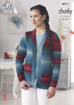 Sweater & Cardigan in King Cole Riot Chunky - 4711