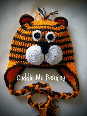 cc845870b Tiger Beanie Hat Crochet pattern by April Bennett