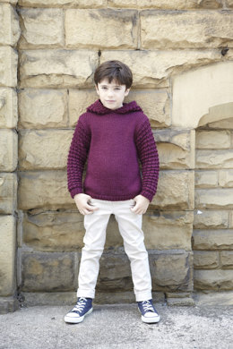 Unisex Childrens' Sweater & Jacket In Hayfield Chunky with Wool - 2414