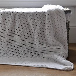 White Lace Baby Blanket