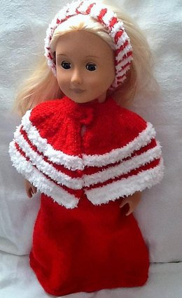Christmas dress and dolls cape