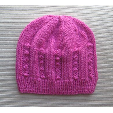 Hat with Small Bobbles in Size Adult