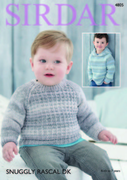 Baby Boy's and Boy's Sweaters in Sirdar Snuggly Rascal DK - 4805 - Downloadable PDF