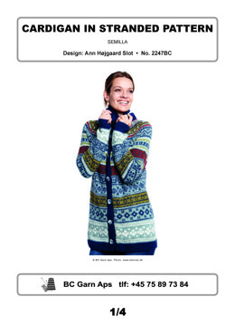 Cardigan in Stranded Pattern in BC Garn Semilla - 2247BC - Downloadable PDF