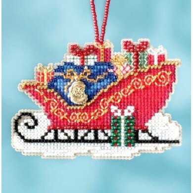 Mill Hill Traditional Sleigh Ornament Cross Stitch Kit