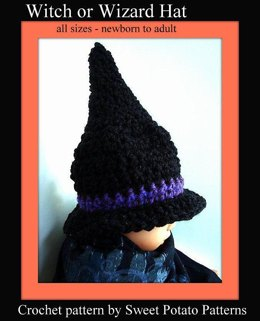 Witch or Wizard Hat - Crochet Pattern by SweetPotatoPatterns