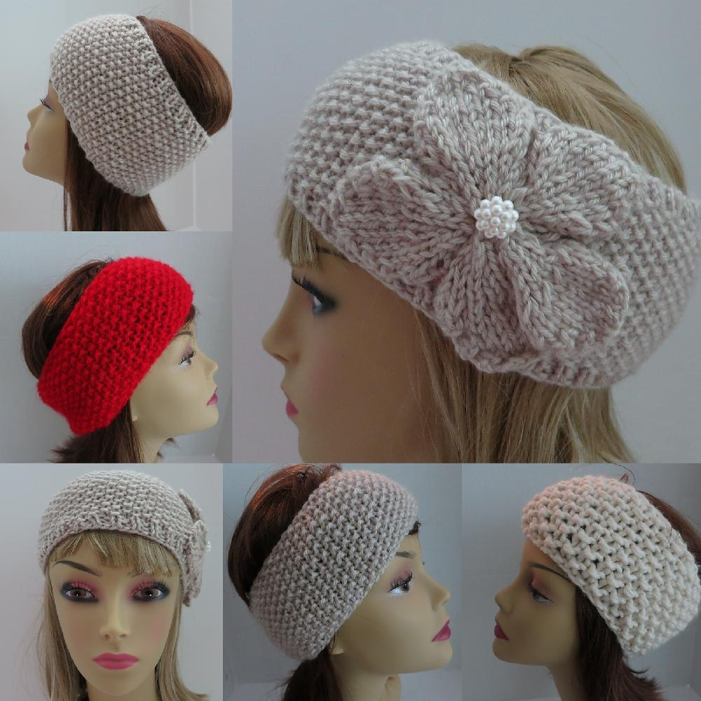Headband Ear Warmer Classy Moss Stitch Knitting pattern by Grace ...