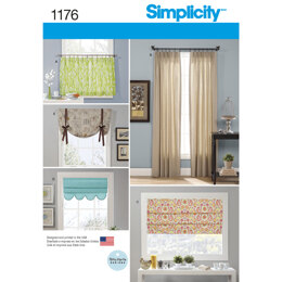 Simplicity Window Treatments 1176 - Paper Pattern, Size OS (ONE SIZE)