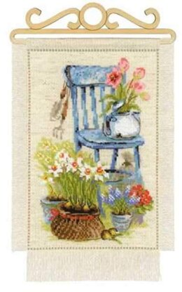 Riolis Cottage Garden Spring Cross Stitch Kit - R1656