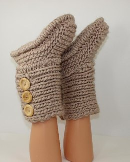 3 Button Childrens Slipper Boots