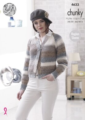 Cardigan & Sweater in King Cole Cotswold Chunky - 4633 - Downloadable PDF