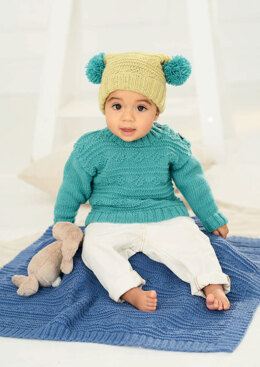 Sweater, Hat and Blanket in Stylecraft Bambino DK - 9761 - Downloadable PDF