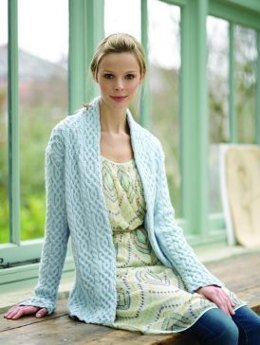 Cabled Jacket in Debbie Bliss Rialto DK - CMDK06
