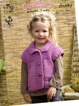 Sweater, Gilet and Jacket in King Cole Comfort Chunky - 3180