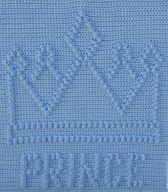 Prince Crown Baby Blanket