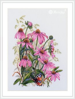 Merejka Coneflowers Cross Stitch Kit - 24cm x 32cm