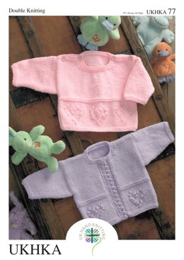 Sweater and Cardigan in King Cole Baby DK - UKHKA77pdf - Downloadable PDF