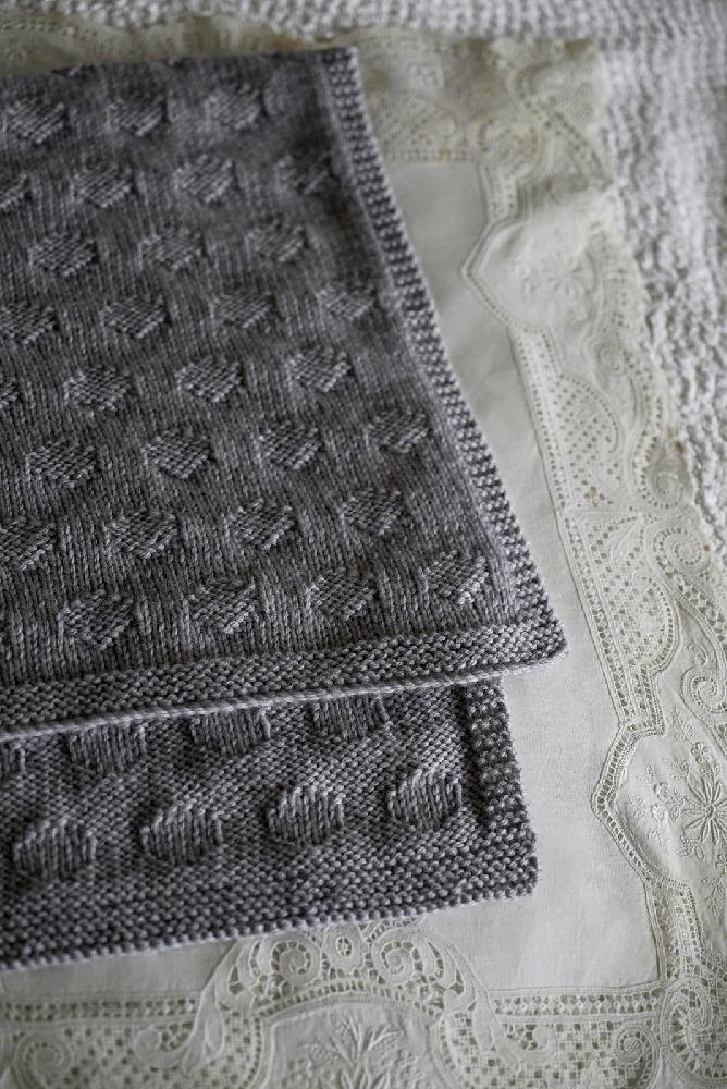 Polka Dot Blanket Bc60 Knitting Pattern By Little Cupcakes