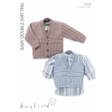 Jumper and a Waistcoat in Hayfield Baby DK - 4426