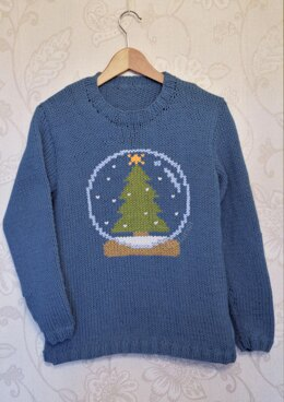 Intarsia - Snow Globe Chart  - Adults Sweater