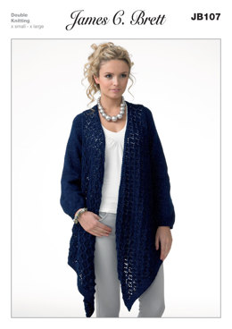 Long Cardigan in James C. Brett Twinkle DK - JB107