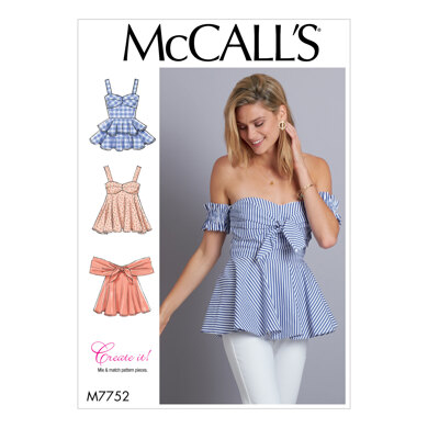 McCall's Misses' Tops M7752 - Sewing Pattern