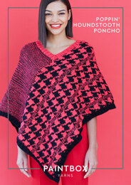 Poppin' Houndstooth Poncho in Paintbox Yarns Simply Aran - Downloadable PDF