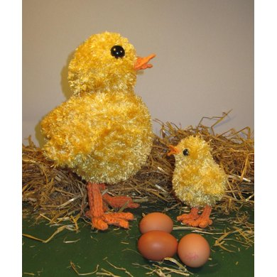 Big Chick Little Chick Easter knitting pattern