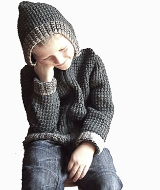 Boys jacket with pockets and optional hood P044