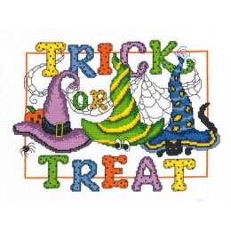 "Imaginating Counted Cross Stitch Kit 10.5"" X7.75"" Trick Or Treat (14 Count)"