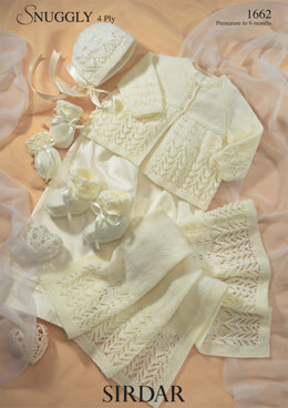 Lacy Matinee Set in Sirdar Snuggly 4 ply 50g - 1662