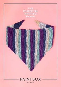"""The Essential Knitted Shawl"" - Shawl Knitting Pattern in Paintbox Yarns Chunky Pots"