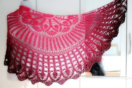 Triangular shawl Julia