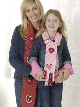 Valentine Scarf Duo in Caron Simply Soft & Simply Soft Paints - Downloadable PDF