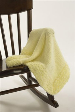 Baby Blankie with Heaven Trim in Plymouth Oh My! and Heaven - F153