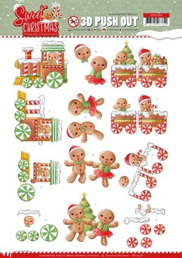 Find It Trading Yvonne Creations Punchout Sheet - Sweet Cookies, Sweet Christmas