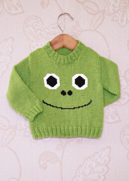Intarsia - Frog Face Chart - Childrens Sweater