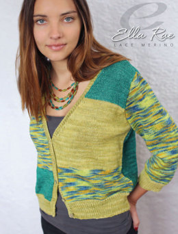 Elsie Cardigan in Ella Rae Lace Merino - ER18-02 - Downloadable PDF