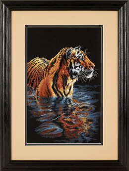 Dimensions Tiger Chilling Out Cross Stitch Kit - 23cm x 36cm