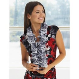Ruffle Scarf in Patons Pirouette