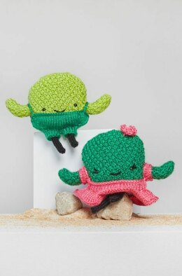 Prickles & Peak Knit Cactus in Red Heart Amigurumi - LM6291 - Downloadable PDF